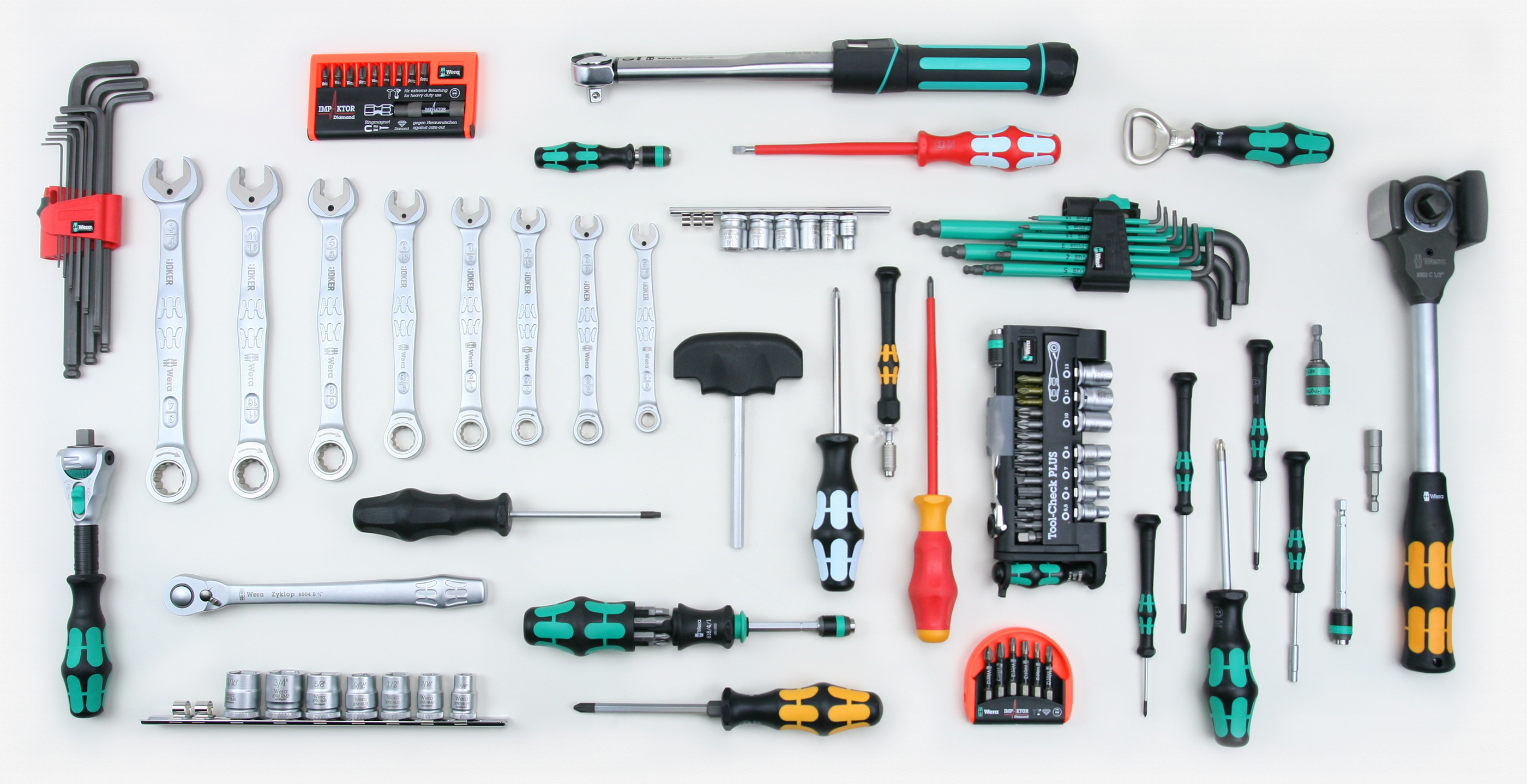 Wera Tool Check  Mini Ratchet 1//4 Wrench Screwdriver Bit Socket Metric Set 39 Pc
